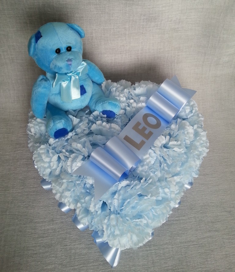 Blue Heart Tribute with Teddy