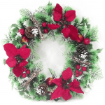 Christmas Wreaths and Artificial Flowers