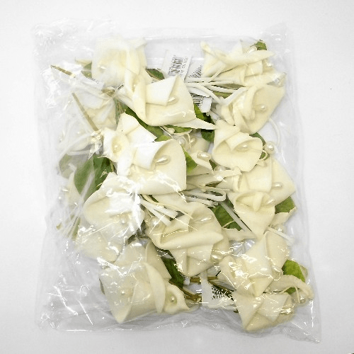 12 Cream Calla Lily and Pearls Corsages