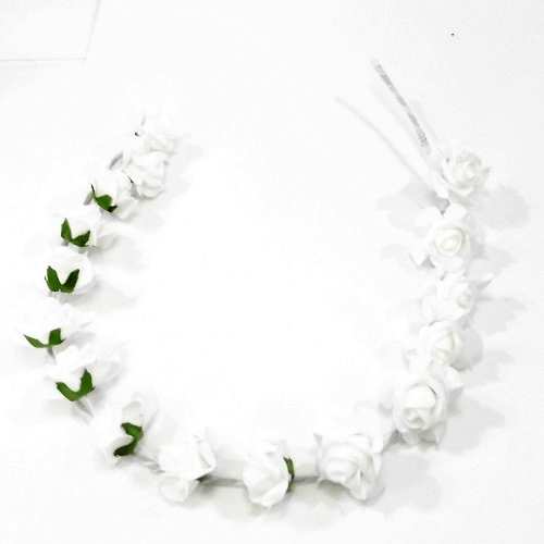 860634 Ivory Foam Rose Garland