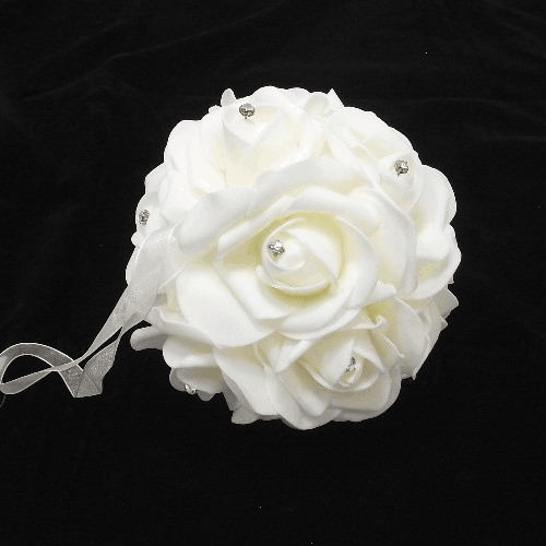 854220 Ivory Foam Rose Pomander Ball