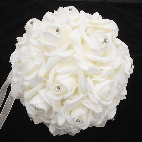 854237 Ivory Foam Rose Pomander Ball