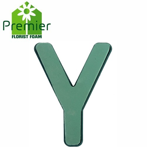 Floral Foam Plastic Backed Clip On Letter Y