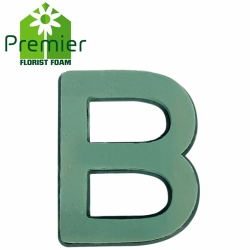 Floral Foam Plastic Backed Clip On Letter B