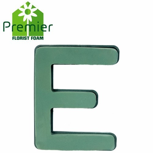 Floral Foam Plastic Backed Clip On Letter E