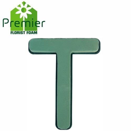 Floral Foam Plastic Backed Clip On Letter T