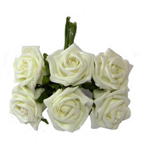 Ivory Foam Rose Bunch 804737