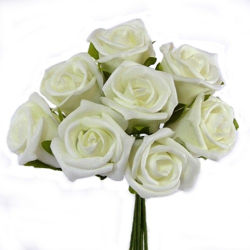 Ivory Foam Rose Bunch 804751