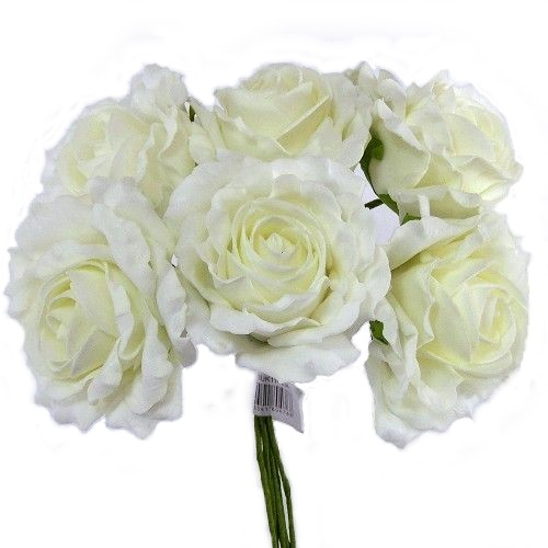 Large Ivory Foam Rose Bunch 804768