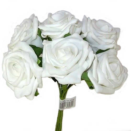 White Foam Rose Bunch 805802