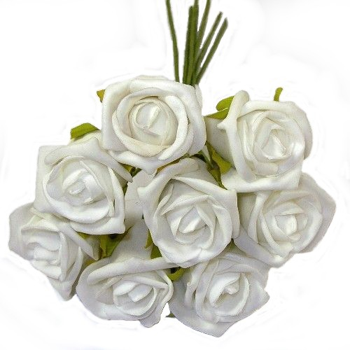 White Foam Rose Bunch 805840