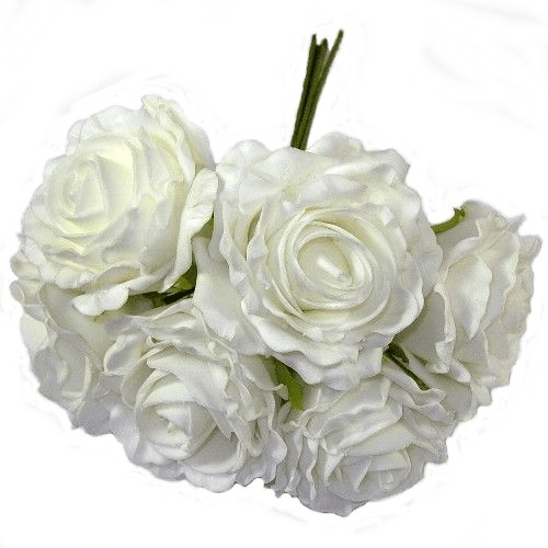 White Foam Rose Bunch 805888