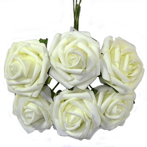 Ivory Foam Rose Bunch 805970