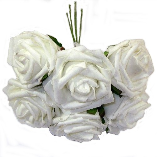 White Foam Rose Bunch 805987