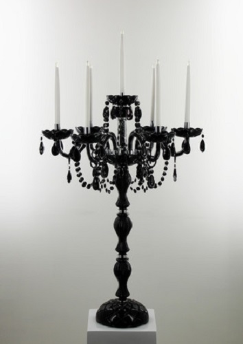 Black 6 Arm Candelabra L7722