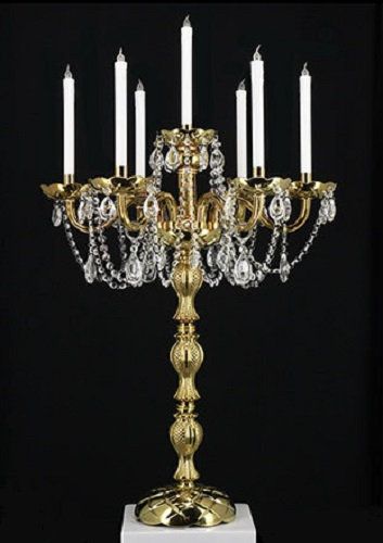 Gold 6 Arm Candelabra L7723
