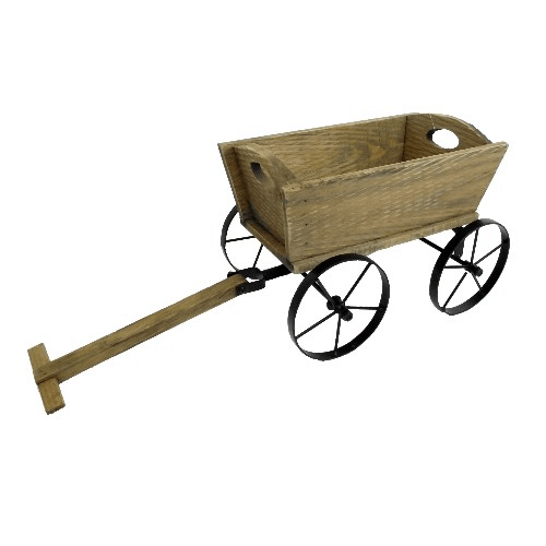 56cm Wooden Pushcart Planter 883992