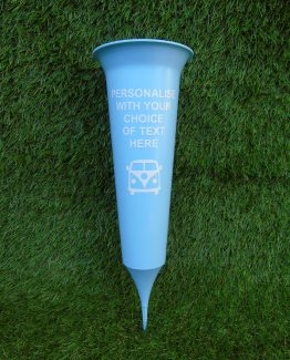 Light Blue Personalised Grave Spike Vases